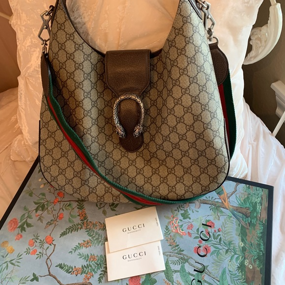 Gucci Handbags - GUCCI GG Supreme Monogram Medium Dionysus Hobo Bag